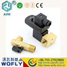 Teste 2 vias latão G1 / 2 220VAC 24VDC Válvula de drenagem automática