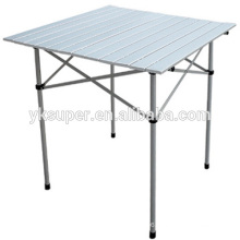 Foldable aluminum picnic table for outdoor leisure
