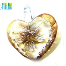 As mais novas contas com pingentes de coração de vidro Lampwork