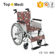 European Elegant Rural Style Leichtgewicht Aluminium Manueller Rollstuhl mit Handbremse