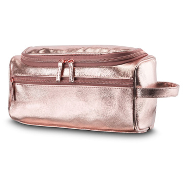 Rose Gold Travel Pu make-up tas met handvat