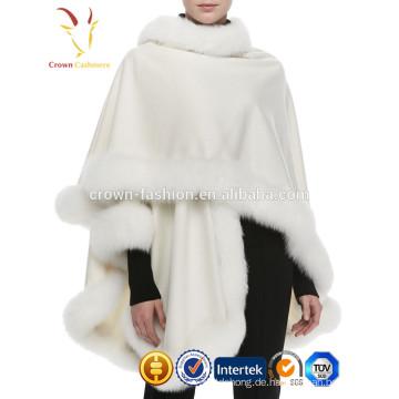 Fox-Pelz-Ordnung der neuen Art und Weise Winter-Dame mit 100% Kaschmir-Schal