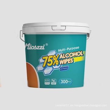Toallitas de limpieza con alcohol antibacteriano de bote al por mayor