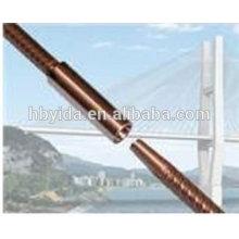 Corrosion resistant rebar taper thread coupler for civil engineering
