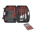 set da barbecue in custodia di plastica