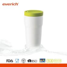 300ml Moderne drinkware weiße kundenspezifische keramische kaffeetasse