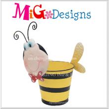 Lovely Baby Bee Metal Vente Décoration Animanl Planteur