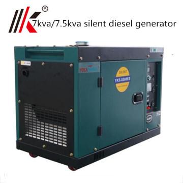 pequeño generador diesel 7 kva pequeño generador diesel portátil a prueba de sonido 7000 vatios precio de la India