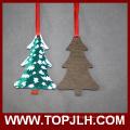 Ornement de sapin de Noël de Sublimation en bois MDF
