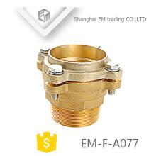 EM-F-A077 laiton double virole tuyau bride type cuivre raccord de tuyau