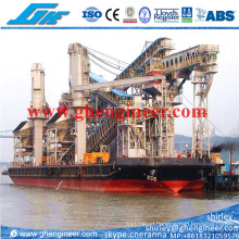 Floating Terminal Unloading Barge From Mother Vessel to Lighter