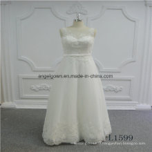 Sleeveless A Line Lace New Design Wedding Dress