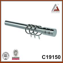 C19150 hierro columna cortina rod finial, accesorios de la barra de cortina de metal, barra de cortina conjunto