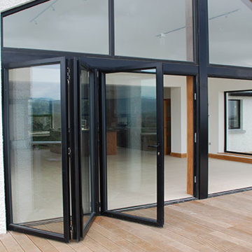 Lingyin Construction Materials Ltd Hot Sale Double Glass Aluminium Folding Doors pintu aluminium berkualiti tinggi