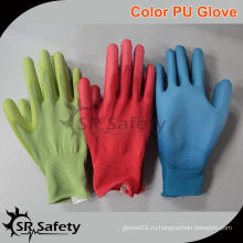 SRSAFETY 13G Knitted PU Nylon Gloves, цвет является необязательным