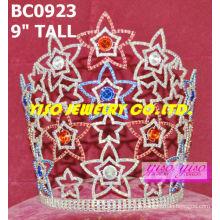Schöne Sterne Kristall Kronen und Tiaras