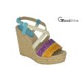 Women′s Platform Espadrilles Braided Strap Wedge Sandals