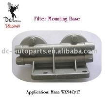 Suportes de montagem principais duplos do filtro de carcaça, ISO / TS16949 fábrica certificada