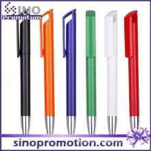 Long Clip Advertising Ball Pen Shining Plastic Ballpoint Ball Pen