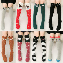 Factory Direct Sale Cotton Cute Young Girl Cartoon Tube Socks