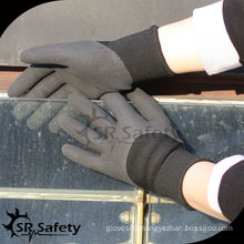 SRSAFETY 2 layer liner 3/4 coated sandy nitrile dipped gloves