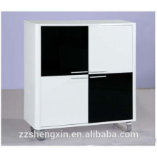 Home Wooden MDF Storage Cabinet with Drawers Black and White for Sale