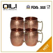 Taza de medida cobre galjanoplastia mula de Moscú, tazas de cobre sólidos