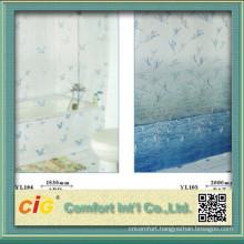 Bathroom Plastic Curtain With Print Pattern