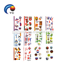 Countries Designs 2018 Word Cup Football Games Tattoo Sticker Flag Body Tattoo