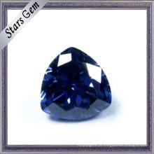 Trilliant Corte Tanzanite Azul Cor CZ Gemstone