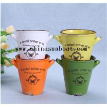 Vase d'usine de décoration de bureau de mini émail