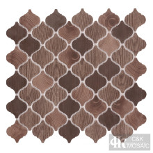 Brown Natural Wood Lantern Printing Recycled Glass Tile