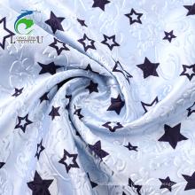 Emboss Rotary Print Polyester Satin Fabric