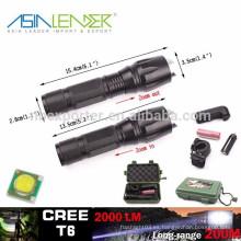 T6 / 10W-2000 lúmenes, 135g, BT-4764 poderosa luz táctica LED