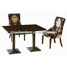 Elegant wooden restaurant table and chair XYN1115