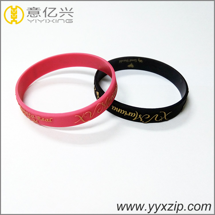 promotional gift embossed silicone wristbands