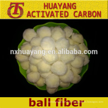 Polyester-Faserkugel der hohen Aufnahme der Wasserfiltration / des Faserkugelfilters
