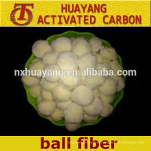Bola de fibra de poliéster de adsorção elevada de filtração de água / filtro de bola de fibra