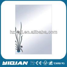 Modern Design Hanging Wall Glue 4mm Bath Mirror