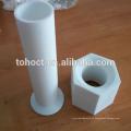 Agujero de extremo cuadrado Tubo de pupe de cerámica de alúmina al 99% Al2o3