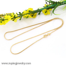 42624-Xuping Wholesale Simple Design Gold Necklace Jewelry