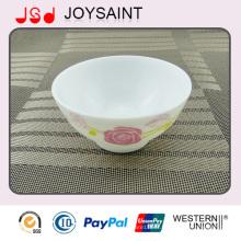 Bol de riz de ménage en verre ovale de vente chaude pour promotionnel