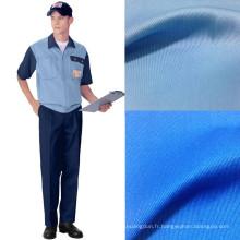 195GSM travail vêtements Polyester coton sergé