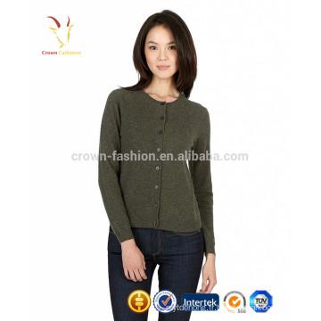 Femmes de haute qualité en laine de cachemire épais Open Front Cardigan Pulls