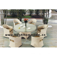 Hot Sale Patio Wicker Garden Dining Chair and Table