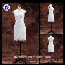 E0125 Vestidos de noiva de renda baratos compras on-line Mãe da noiva Vestidos de noite mangas curtas