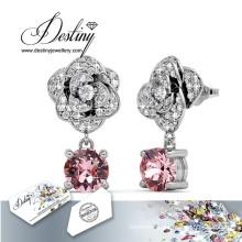 Destiny Jewellery Crystals From Swarovski Stud Flower Earrings