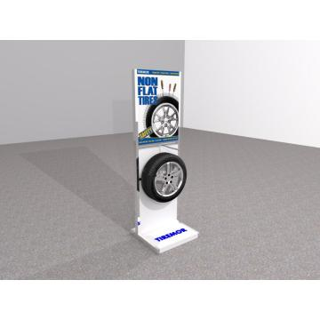 Floor+Standing+Auto+Tyre+Metal+Display+Stand