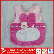 wholesale pink baby bib new design plush baby bibs