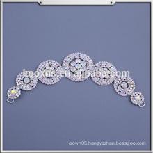 Beaded Applique Wholesale Bridal Rhinestone Appliques for Wedding Dress